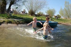 Splish,splash am Ufer